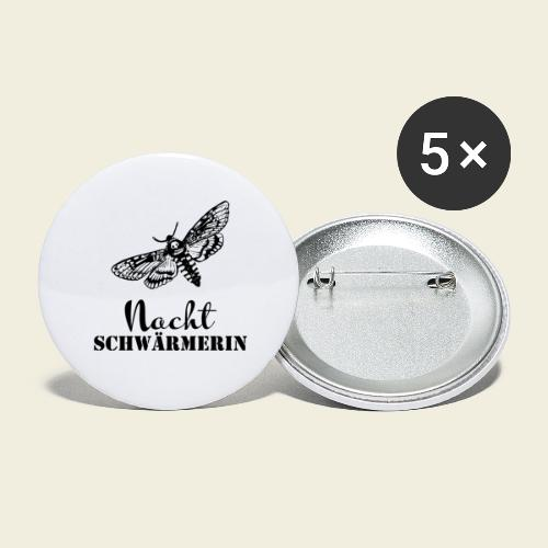 Die NACHT-SCHWÄRMERIN - Buttons groß 56 mm (5er Pack)