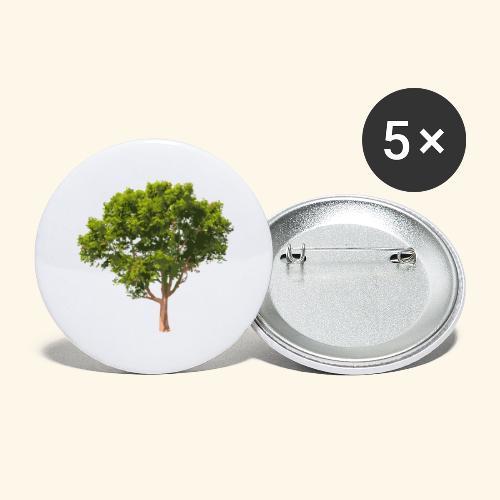 baum2 - Buttons groß 56 mm (5er Pack)