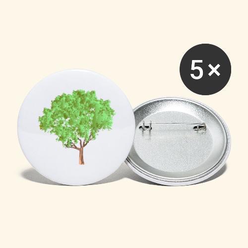 baum 3 - Buttons groß 56 mm (5er Pack)