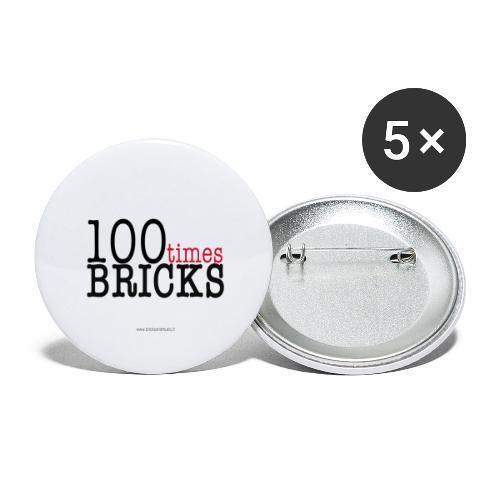 100times BRICKS - Confezione da 5 spille grandi (56 mm)