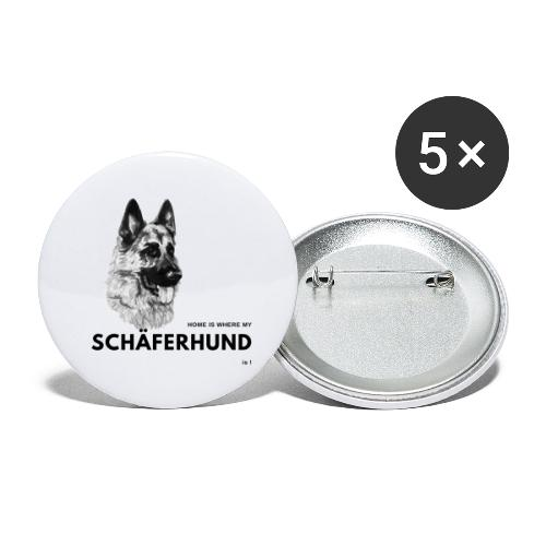 Home is where my Schäferhund is ! - Buttons groß 56 mm (5er Pack)