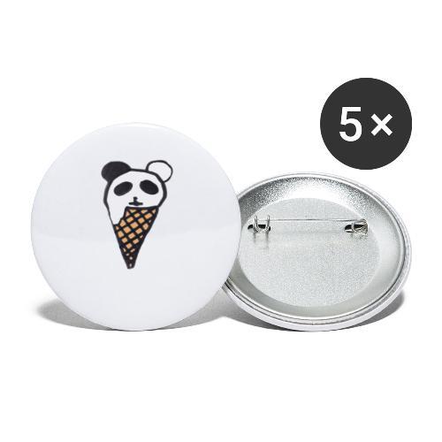 Petit Panda - Lot de 5 grands badges (56 mm)