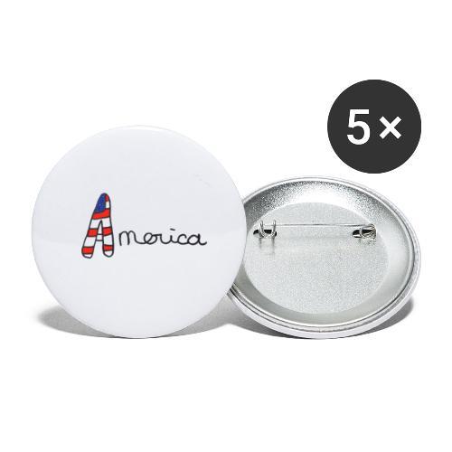 America - Lot de 5 grands badges (56 mm)