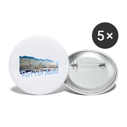 Rotterdam - Buttons groß 56 mm (5er Pack)