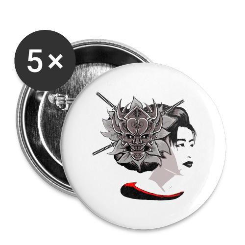 Warrior Flower - Buttons groot 56 mm (5-pack)