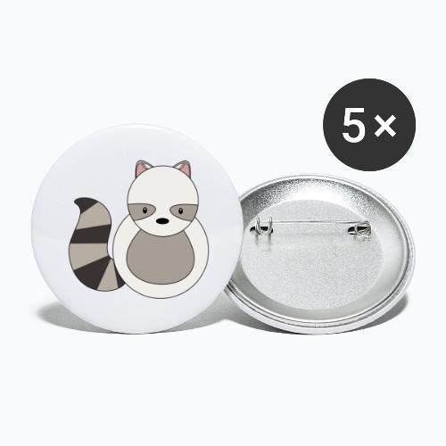 Ricko Raccoon - Appelsin - Stora knappar 56 mm (5-pack)