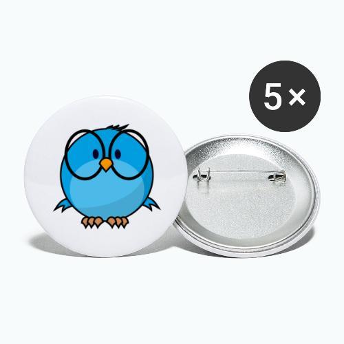 Birdie Bob - Appelsin - Stora knappar 56 mm (5-pack)
