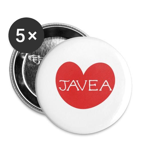 LOVE JAVEA - Paquete de 5 chapas grandes (56 mm)