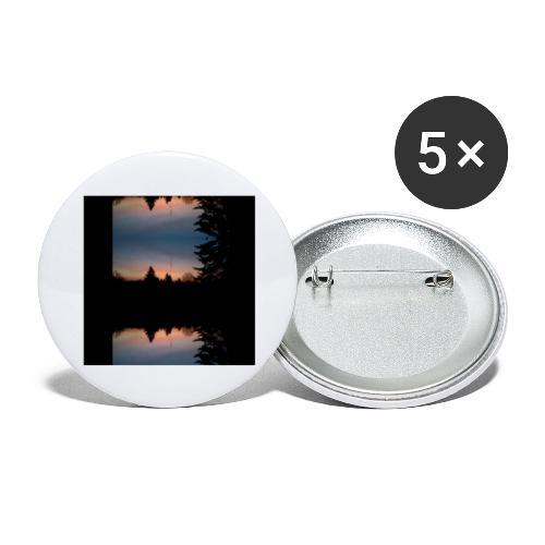 Sonnenhorizont Spiegelung Heller - Buttons groß 56 mm (5er Pack)
