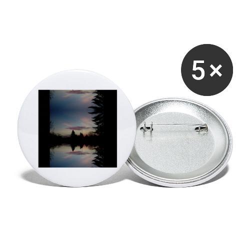 Sonnenhorizont Spiegelung Ufowolke - Buttons groß 56 mm (5er Pack)