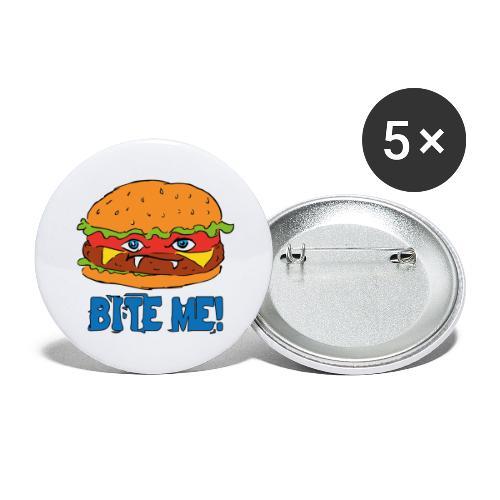 Bite me! - Confezione da 5 spille grandi (56 mm)