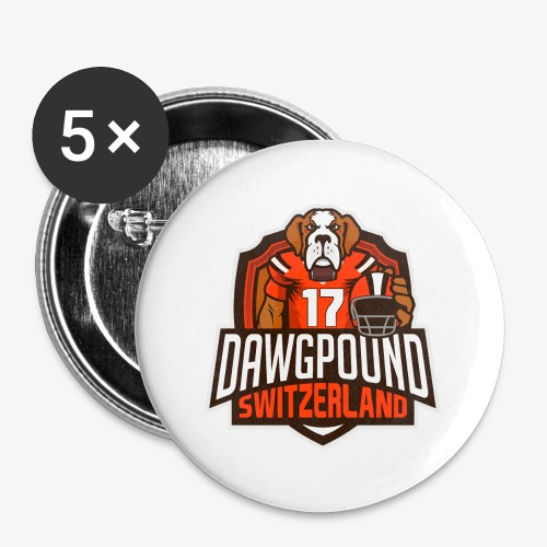 Dawgpound Switzerland Shield - Buttons groß 56 mm (5er Pack)