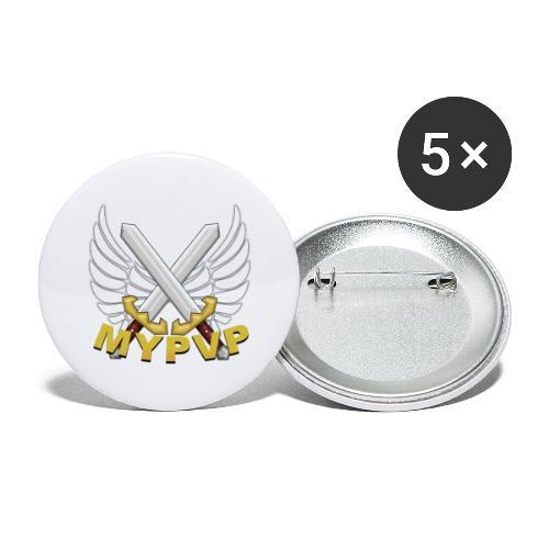 MyPvP - Buttons groß 56 mm (5er Pack)