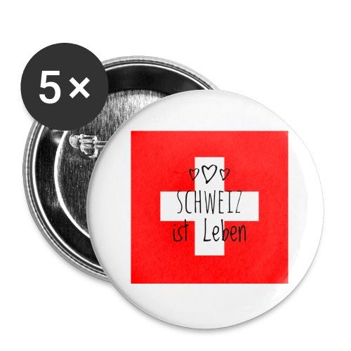 Schweiz beste - Buttons groß 56 mm (5er Pack)
