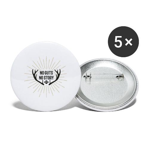 No Guts - No Story - Buttons groß 56 mm (5er Pack)