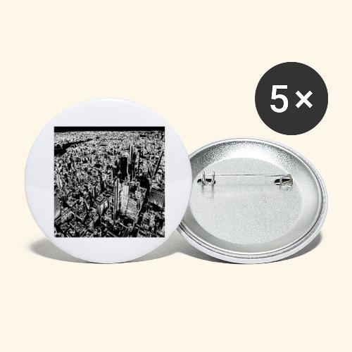 Manhattan a gessetto - Confezione da 5 spille grandi (56 mm)