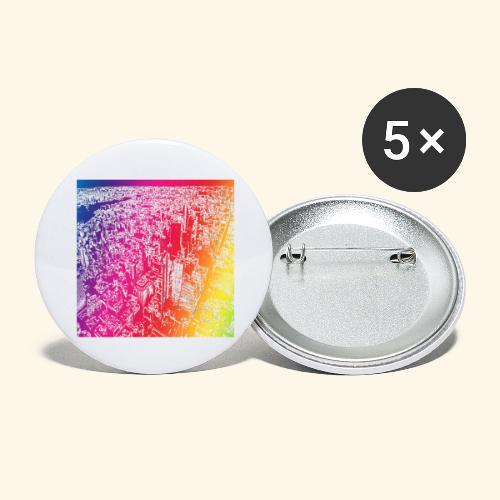 Manhattan arcobaleno - Confezione da 5 spille grandi (56 mm)