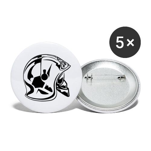 casque_2016 - Lot de 5 grands badges (56 mm)