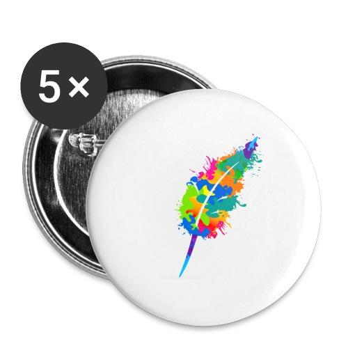 Original Schreiben-im-Flow.de - Feder - Buttons groß 56 mm (5er Pack)