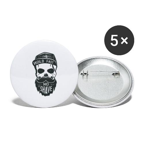 No Shave - Buttons groß 56 mm (5er Pack)