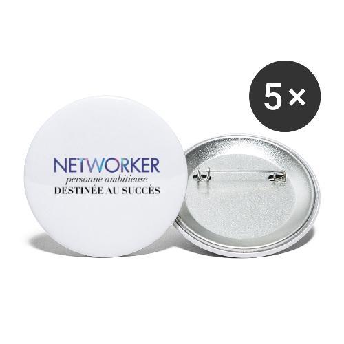 Networker, destiné au succès - Lot de 5 grands badges (56 mm)