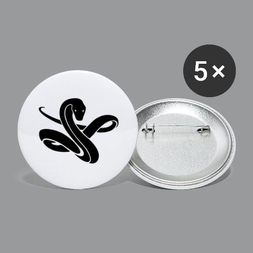 ssssnnnnaaaaaakkkeee - Buttons groot 56 mm (5-pack)
