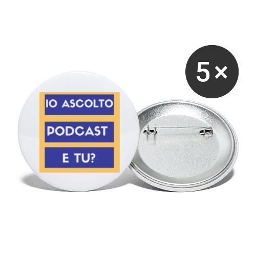 Ascolto podcast 2 - Confezione da 5 spille grandi (56 mm)