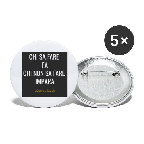 Ciraolo - Confezione da 5 spille grandi (56 mm)