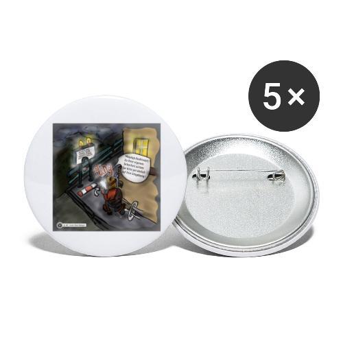 Cartoon SmartZone Ende der Ausbaustrecke - Buttons groß 56 mm (5er Pack)