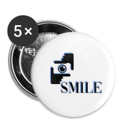 Smile - Lot de 5 grands badges (56 mm)