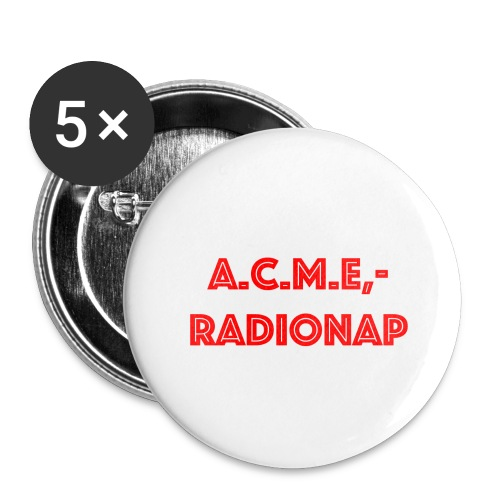 acmeradionaprot - Buttons groß 56 mm (5er Pack)