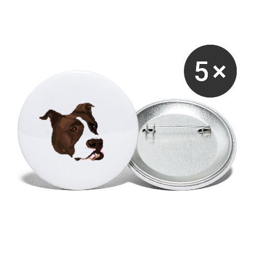 Pitbull - Przypinka duża 56 mm (pakiet 5 szt.)