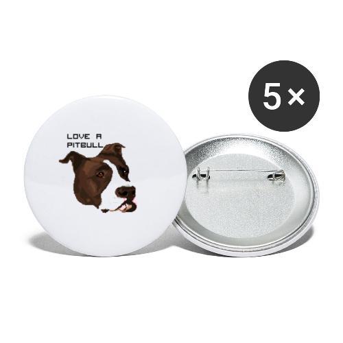 Love a Pitbull - Przypinka duża 56 mm (pakiet 5 szt.)