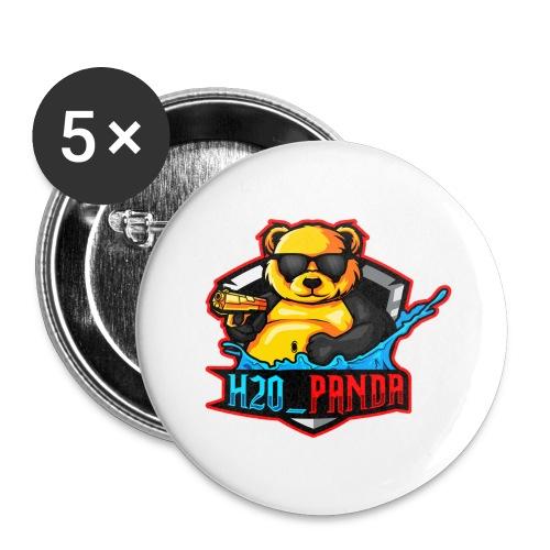 Pandas Loga - Stora knappar 56 mm (5-pack)