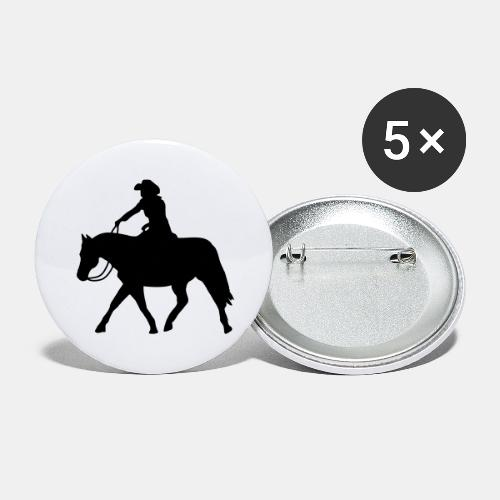 Ranch Riding extendet Trot - Buttons groß 56 mm (5er Pack)