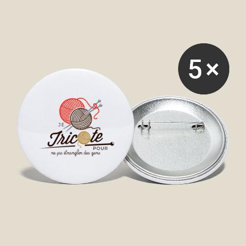 Tricot - Lot de 5 grands badges (56 mm)