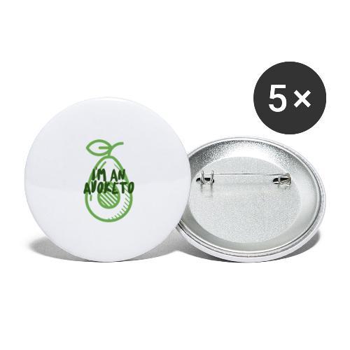 Witziges Keto Shirt Frauen Männer Ketarier Avocado - Buttons groß 56 mm (5er Pack)