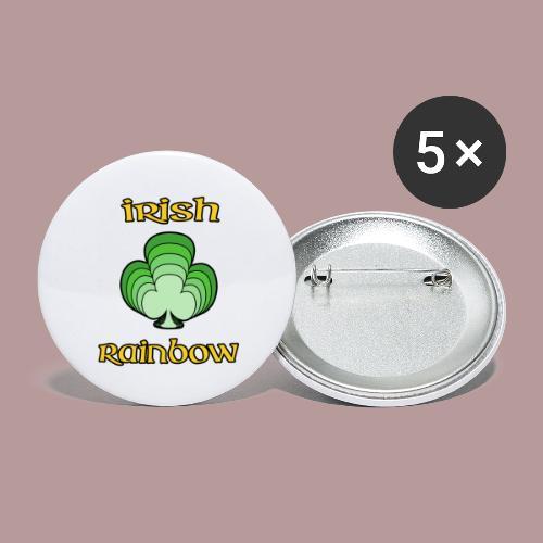 Irish rainbow - Lot de 5 grands badges (56 mm)