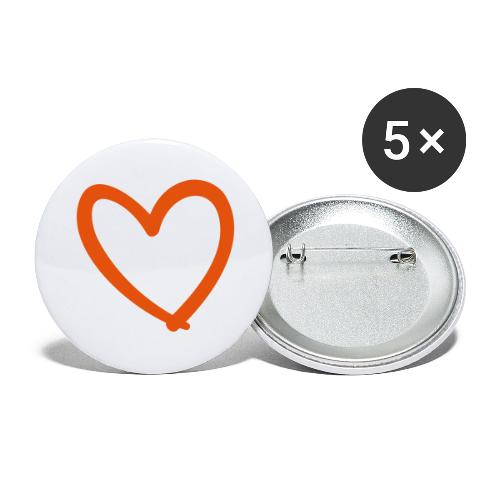 Heart Lines Pixellamb - Buttons groß 56 mm (5er Pack)