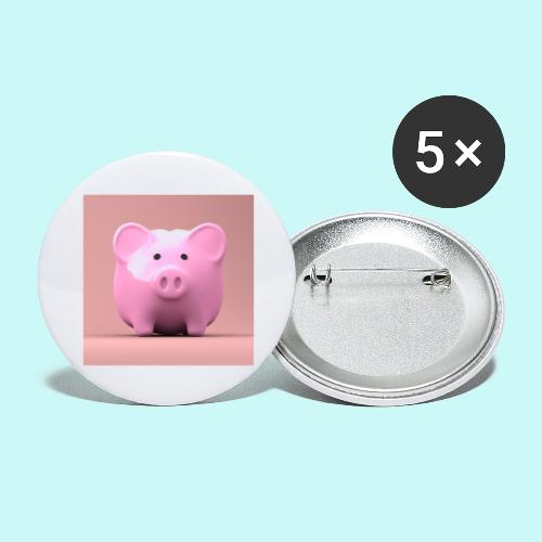 piggy - Buttons large 2.2''/56 mm(5-pack)