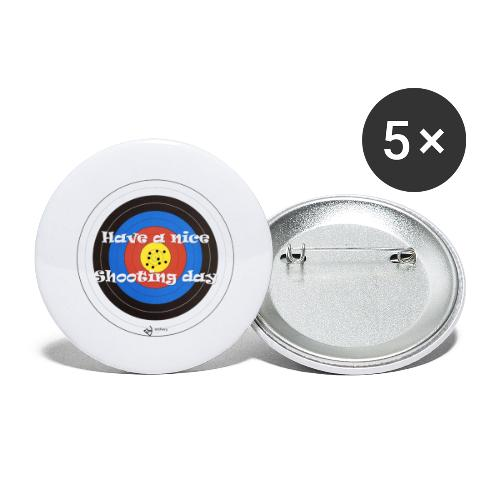 Shooting day - Buttons groß 56 mm (5er Pack)