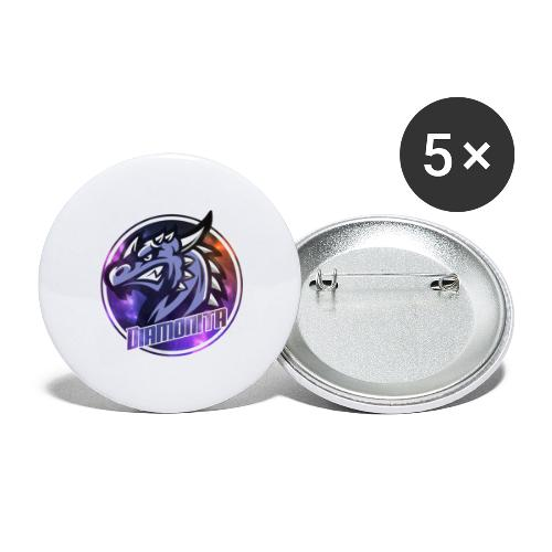 DIa Logo - Buttons/Badges stor, 56 mm (5-pack)