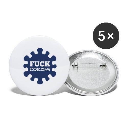 Fuck Corona - Buttons groß 56 mm (5er Pack)