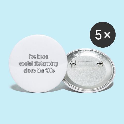 distanciation sociale - Lot de 5 grands badges (56 mm)