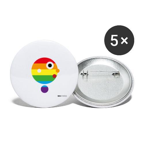 WIO LGTBI - Paquete de 5 chapas grandes (56 mm)