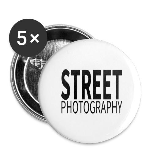 Street photography Black - Confezione da 5 spille grandi (56 mm)