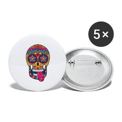 Mexican Skull - Confezione da 5 spille grandi (56 mm)