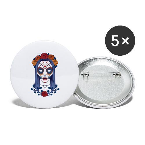 Skull 4 - Confezione da 5 spille grandi (56 mm)