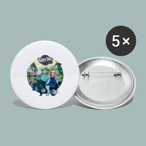 Letting Go Merch - Buttons groot 56 mm (5-pack)