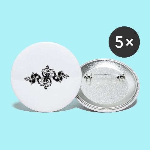 Calimero en style tatouage - Lot de 5 grands badges (56 mm)